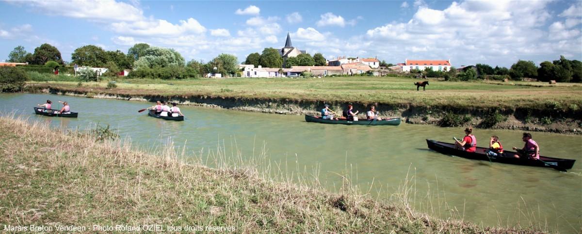 marais breton route du sel balade canoe