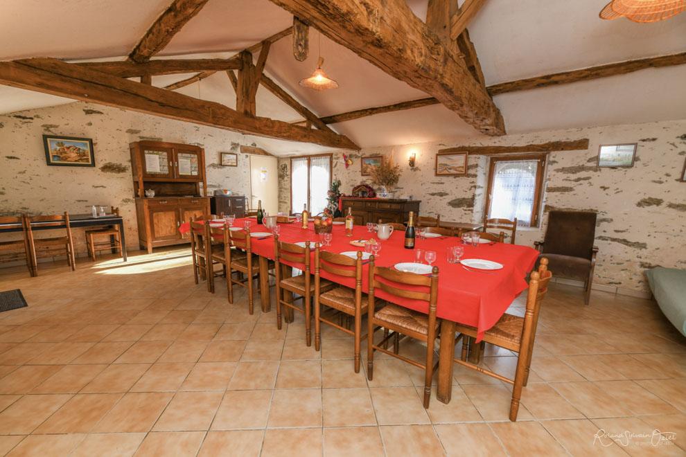 Gîte de groupe avec salle de réception en Vendée