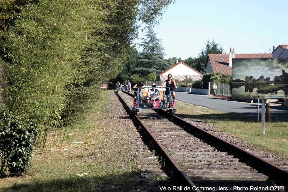 De retour balade en draisine au Vélo-Rail de Commequiers